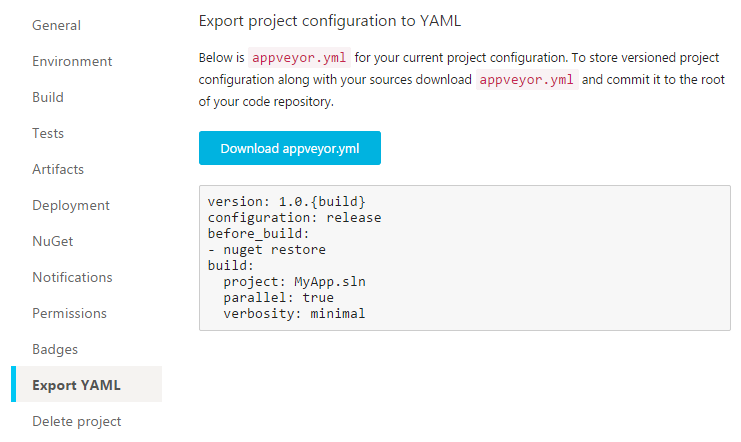 AppVeyor Deployment and YAML improvements | AppVeyor