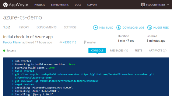 Continuous Delivery of Windows Azure Cloud Services with AppVeyor CI